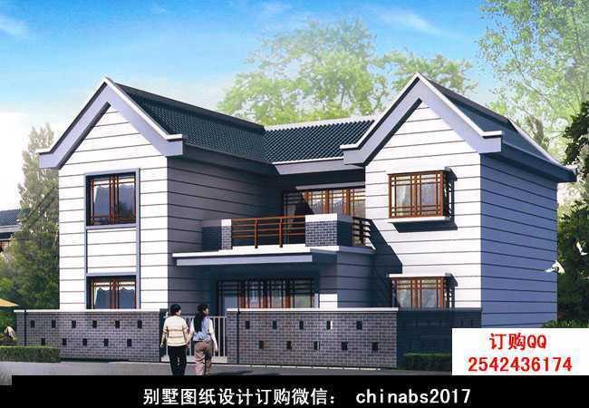 双拼小别墅设计图纸(含效果图),二层别墅设计方案精选